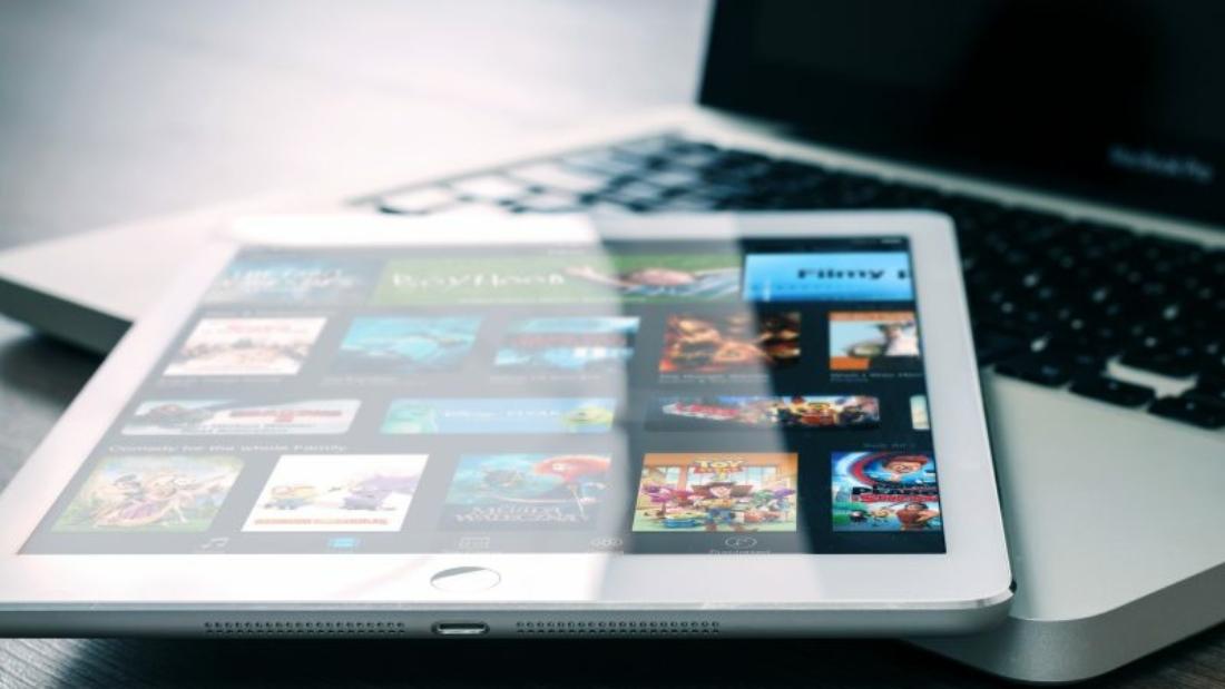 Image de streaming video sur tablette